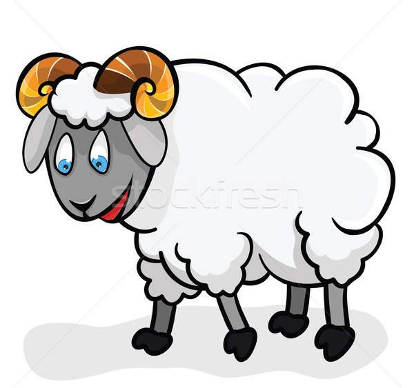Cute sheep. Stock photo © Stellis
