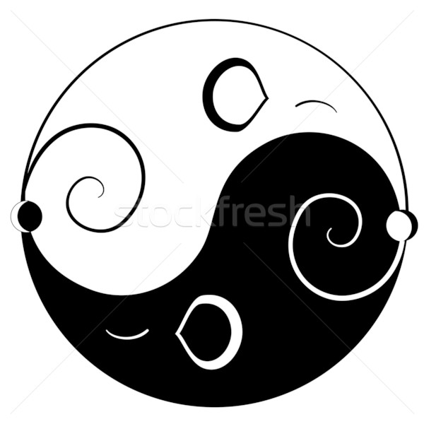 Mouse ying yang Stock photo © Stellis