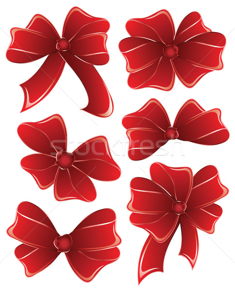 Set red ribbon on white  background. Stock photo © Stellis