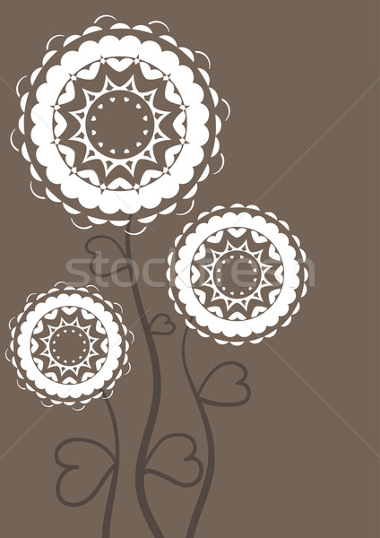 Greeting card with flowers. Vintage.  Stock photo © Stellis