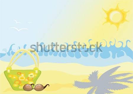 Beach with waves Stock photo © Stellis
