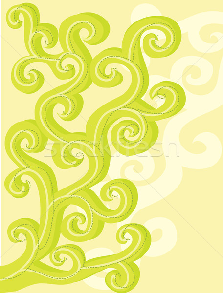 Abstract, vector, floral curls. Stock photo © Stellis