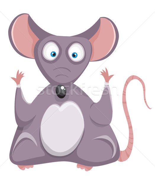 Cartoon rat. Mouse. Stock photo © Stellis