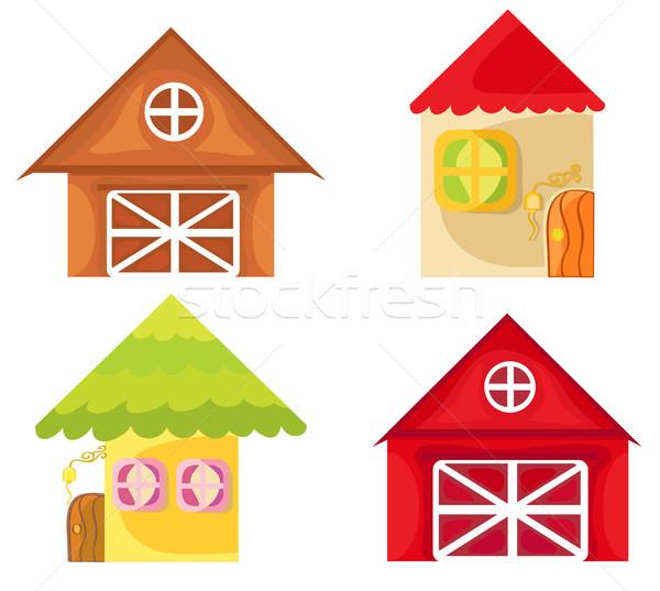 Cartoon houses. Stock photo © Stellis