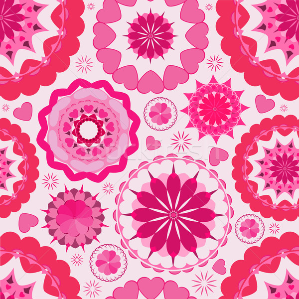 Virág végtelen minta rózsaszín tapéta kert könyv Stock fotó © Stellis
