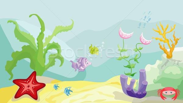 Tenger fenék halfajok tengeri csillag rák hínár Stock fotó © Stellis