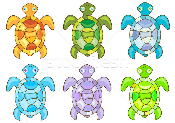 Cartoon turtles Stock photo © Stellis