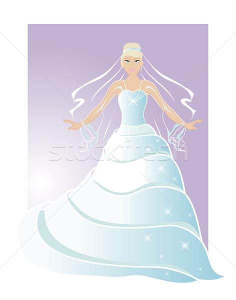The bride in beautiful dress  Stock photo © Stellis