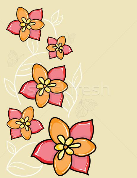 vector flower background Stock photo © Stellis