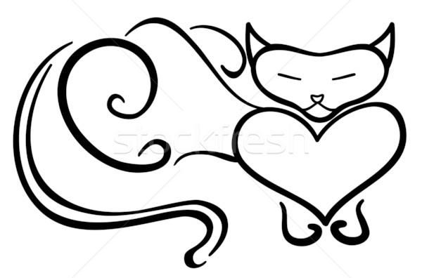 Purring cat  Stock photo © Stellis