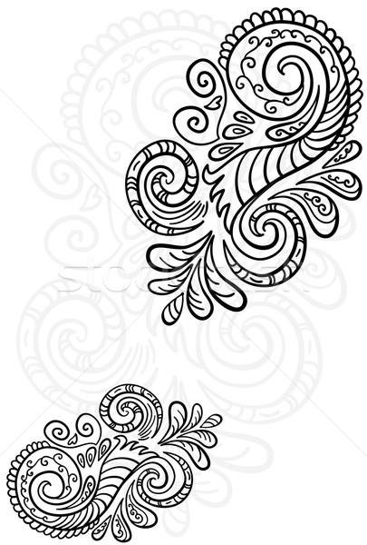 Stock fotó: Tekercs · minta · végtelenített · virágmintás · textúra · terv