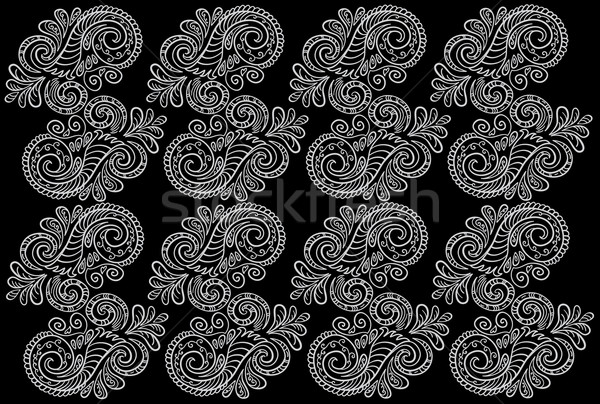 Abstract pattern. Seamless floral background. Stock photo © Stellis