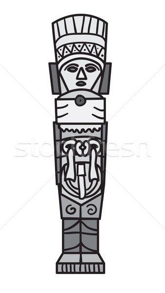 Stone ornament in style of the Maya. Stock photo © Stellis