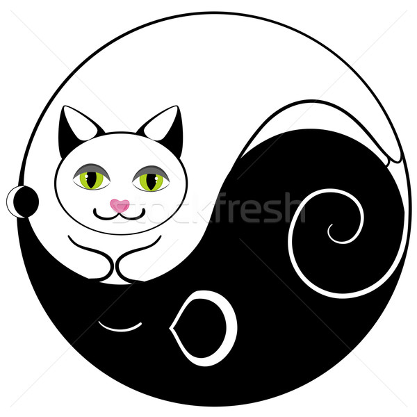 Mouse and cat ying yang  Stock photo © Stellis