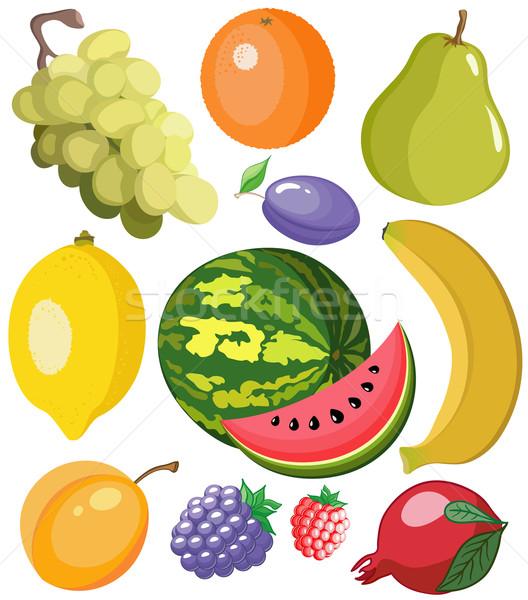 Set fruits Stock photo © Stellis