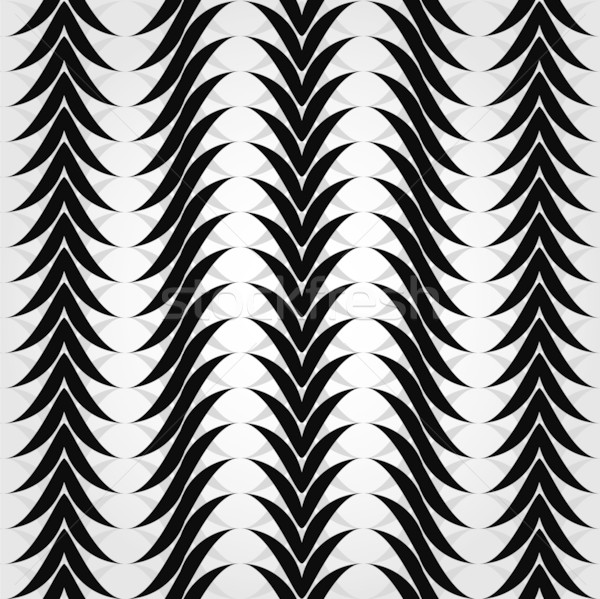 Seamless pattern with black and white waves. Stock photo © Stellis