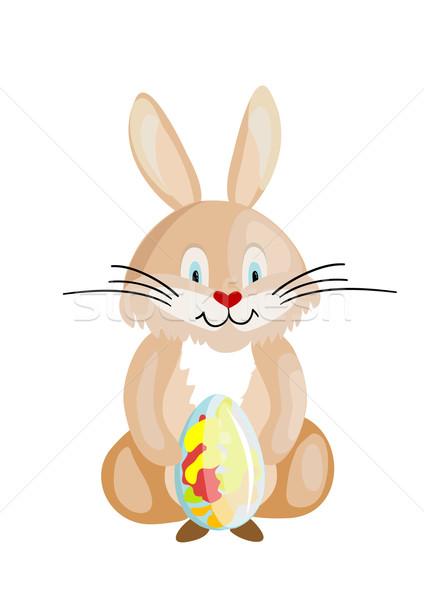 Húsvét nyúl tojás terv zöld nyuszi Stock fotó © Stellis