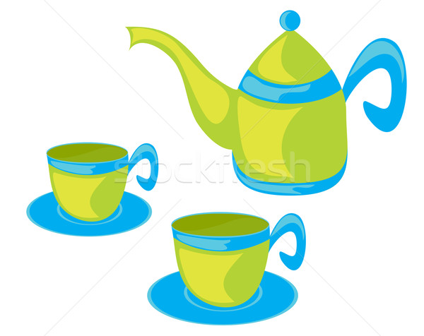 Teapot and cups. Stock photo © Stellis
