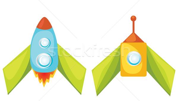 Cartoon set vettore blu giocattolo retro Foto d'archivio © Stellis