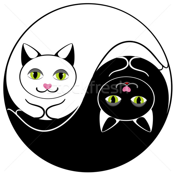 Cat ying yang Stock photo © Stellis