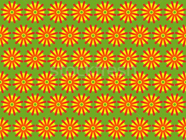 Stock fotó: Virág · terv · végtelenített · illusztráció · virágok · textúra