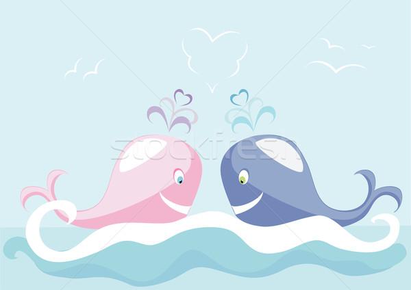 Two big whales Stock photo © Stellis
