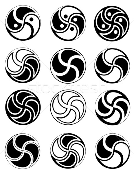 Creative symbols in style of ying yang Stock photo © Stellis