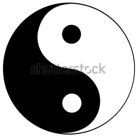 Ying yang symbol Stock photo © Stellis