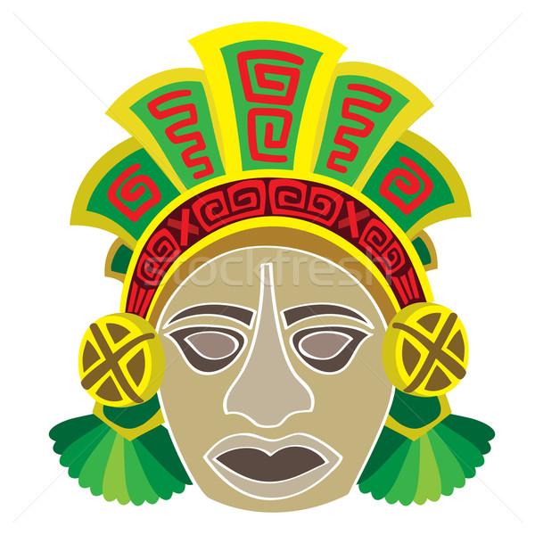 Maschera stile testa persona calendario pattern Foto d'archivio © Stellis