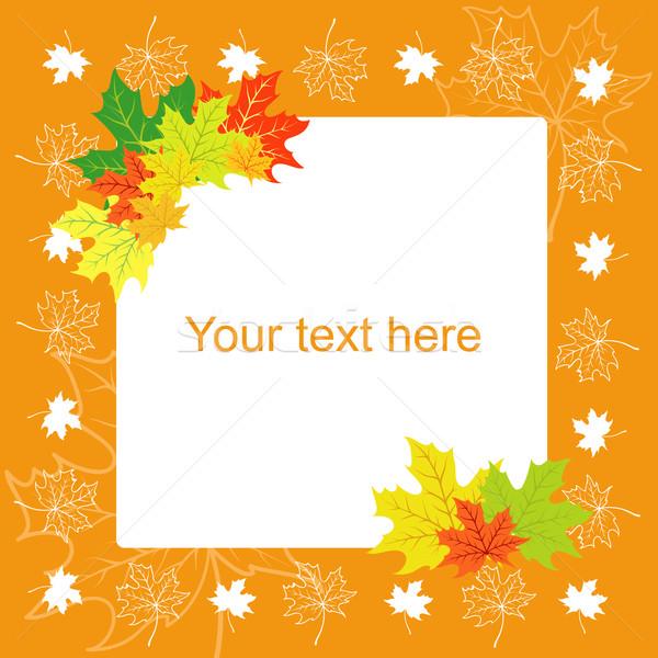 Levelek ősz kártya juhar természet levél Stock fotó © Stellis
