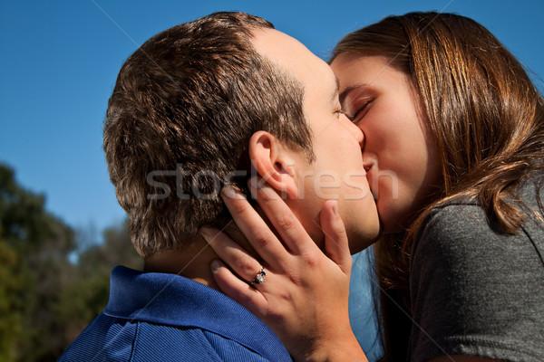 Love Couple Kiss Stock photo © Stephanie_Zieber
