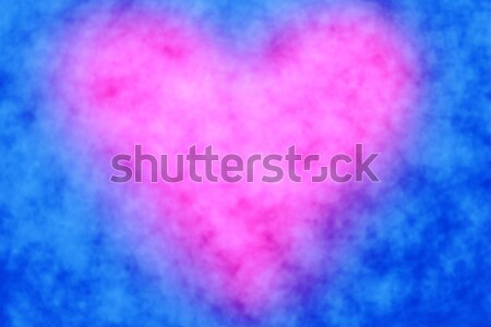 Pink Heart Blue Background Stock photo © Stephanie_Zieber