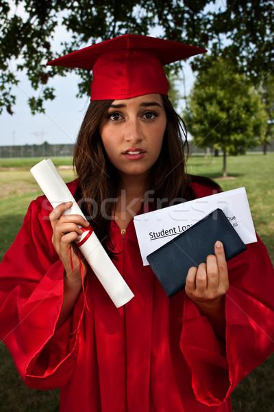 Studente prestito laurea diploma libretto di assegni Foto d'archivio © Stephanie_Zieber