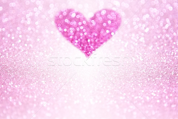 Pink Sparkle Glitter Heart Party Invite Stock photo © Stephanie_Zieber