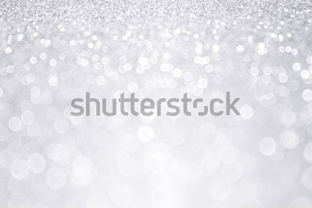 Silver Glitter Winter Christmas Background Stock photo © Stephanie_Zieber