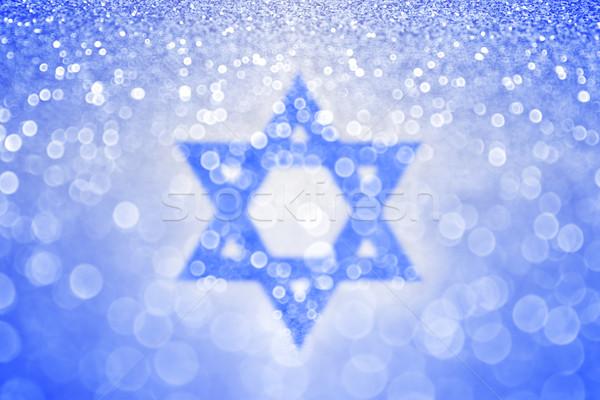 Blauw star abstract bar textuur bruiloft Stockfoto © Stephanie_Zieber