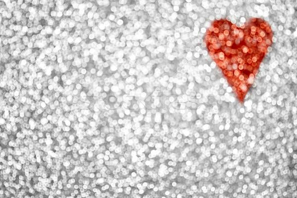 Stock photo: Glitter Heart Background