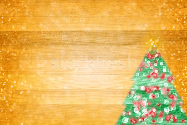Christmas Tree Lights Flyer Background Stock photo © Stephanie_Zieber