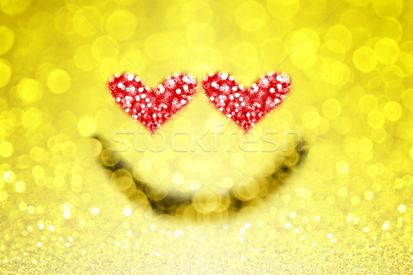 Emoji Emoticon Heart Love Smiley Face Stock photo © Stephanie_Zieber