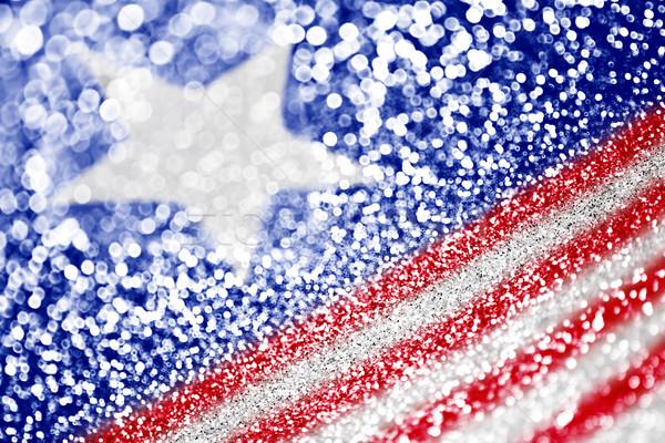 Hazafias amerikai zászló absztrakt textúra háttér zászló Stock fotó © Stephanie_Zieber