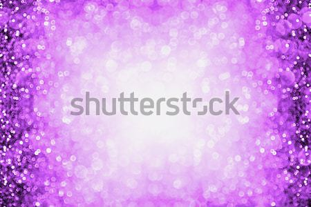 Lavande pourpre glitter frontière résumé Photo stock © Stephanie_Zieber