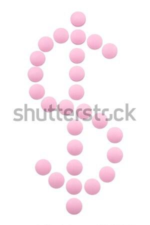 Zdjęcia stock: Opieki · zdrowotnej · muzyka · pigułki · znak · dolara · działalności · medycznych
