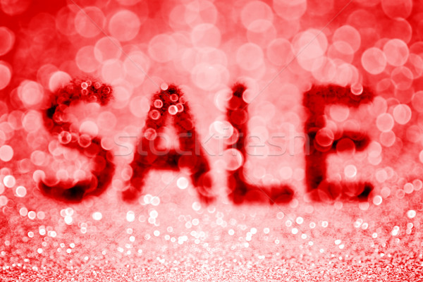 Rood verkoop abstract schitteren korting Stockfoto © Stephanie_Zieber