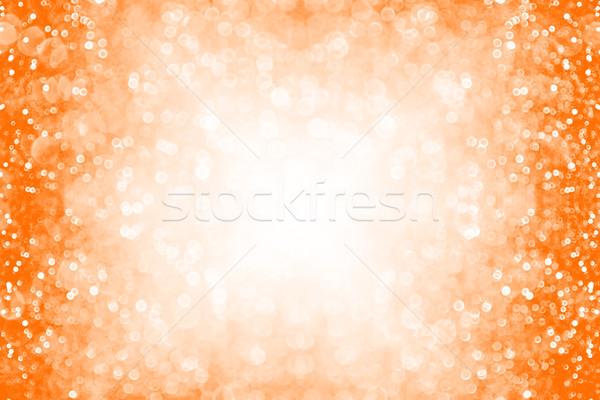 オレンジ 秋 ハロウィン グリッター 国境 ストックフォト © Stephanie_Zieber