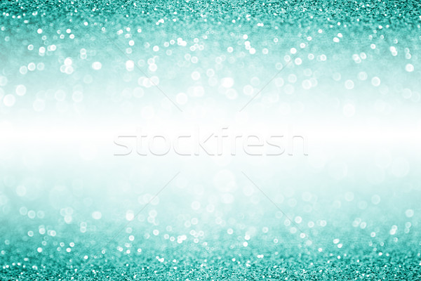 Teal Turquoise Aqua White Confetti Christmas Birthday Party Invi Stock photo © Stephanie_Zieber