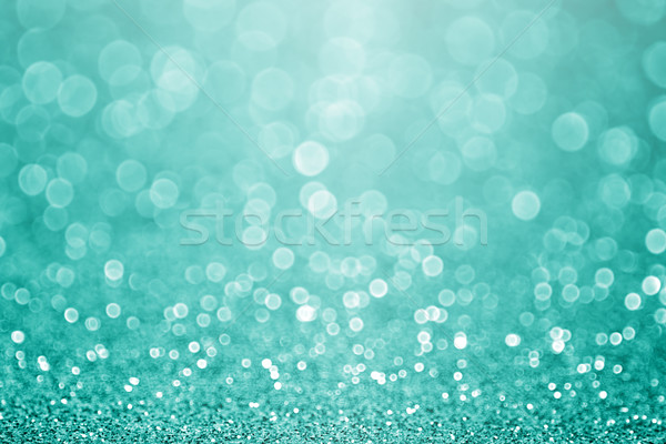 Teal Turquoise Green Glitter Sparkle Background Stock photo © Stephanie_Zieber
