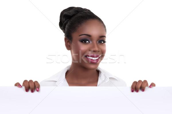 Afrikaanse zakenvrouw teken afro-amerikaanse zwarte Stockfoto © Stephanie_Zieber