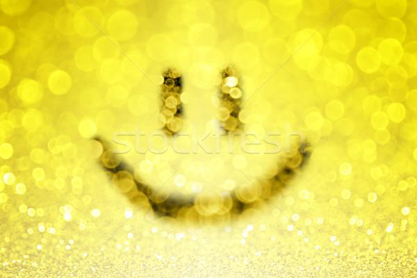 Sarı gülümseme yüz mutlu Stok fotoğraf © Stephanie_Zieber
