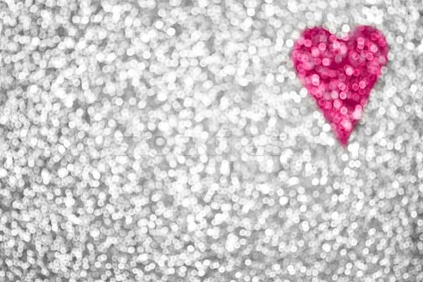 Plata brillo rosa corazón día de san valentín Foto stock © Stephanie_Zieber