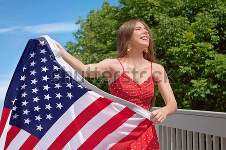 Woman American Flag Stock photo © Stephanie_Zieber